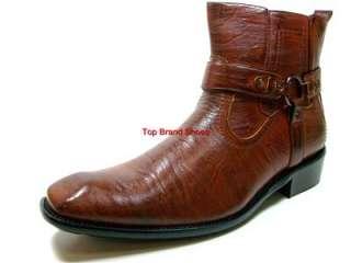 Mens D ALDO Italian Style Brown Dress Casual Boots Shoe