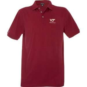 Virginia Tech Hokies Maroon Classic Pique Stainguard Polo