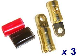 NEW AUDIOPIPE 0 GAUGE HEAVY DUTY GOLD RING TERMINALS