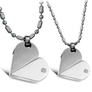 New Fashion Lovers Heart shaped Titanium Stainless Steel