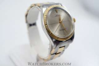 Rolex Oyster Perpetual 1008 Mens Two Tone Stainless Steel Watch