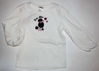 Gymboree Tres Chic heart jeweled white poodle shirt NWT