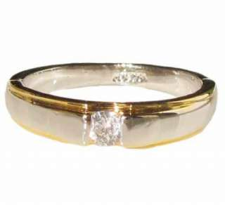 swarovski crystal gold silver tone boys mens ladys engagement Ring