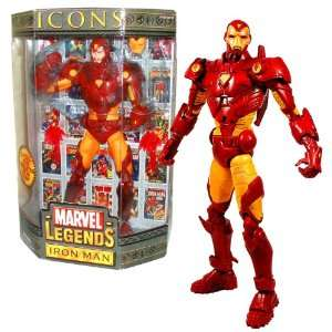 2006 Marvel Legends ICONS Series 12 Inch Tall Action Figure   IRON