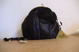 NEW~LIZ CLAIBORNE~BLACK SATIN EVENING BAG~STYLE 4424~
