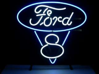 FORD V8 AMERICAN AUTO Beer Bar Pub Neon Light Sign K04L