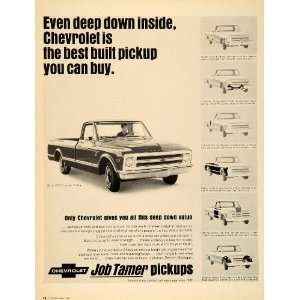 1968 Ad Chevrolet Pickup Trucks CST Fleetside Half Ton