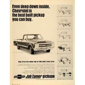1968 Ad Chevrolet Pickup Trucks CST Fleetside Half Ton