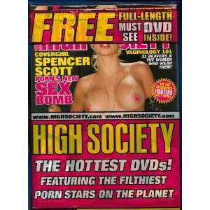 HIGH SOCIETY MAGAZINE FEB 2012 SPENCER SCOTT WITH DVD! NO