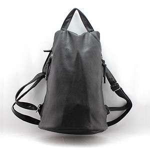 Womens Classic Black Faux Leather Backpack Bag Handbag Purse A29