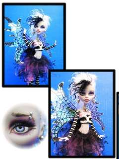 Doll Custom Repaint Gothic Fairy SpiderWeb Wings Customized Goulia