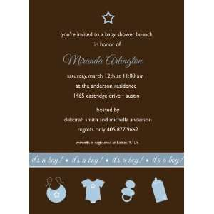 5x7 Its A Boy Baby Shower Invitation Health & Personal