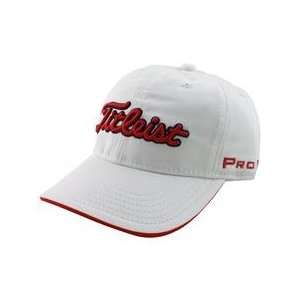 Titleist Junior Hat   White/Red   2012