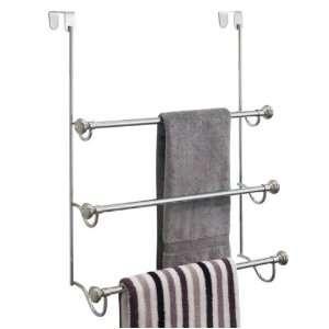 York Metal Over Shower Door Towel Rack (Chrome) (22.5H x 17.75W x 7