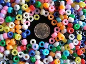 2,000.(1/2 lb.) MINI PONY BEADS 7mm Bird Toys Crafts