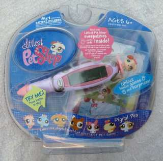 NEW LPS Littlest Pet Shop Pink Digital Dog Pen Games & Surprises