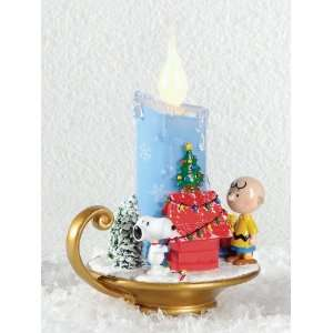 Peanuts Charlie Brown and Snoopy LED Candlestick, 6 Inch