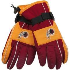 Washington Redskins NFL Color Block Winter Nylon Gloves   GREAT GIFT