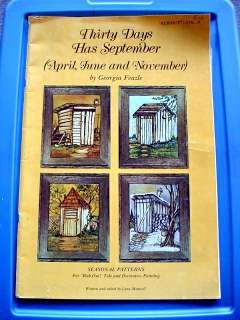 SEPTEMBER Seasonal Patterns RUB OUT Tole & Decorative Painting