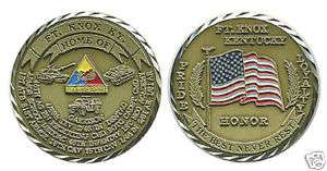 FORT KNOX ARMY HONOR PRIDE LOYALTY CHALLENGE COIN