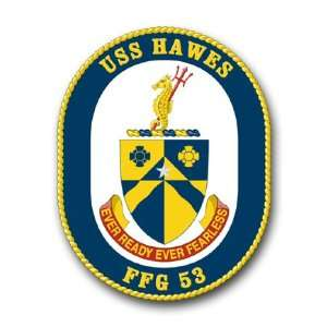 US Navy Ship USS Hawes FFG 53 Decal Sticker 3.8 6 Pack