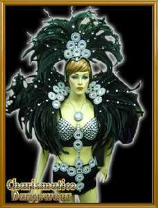 BLACK CABARET Feather SAMBA CARNIVAL Costume Headdress