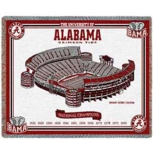 Alabama Crimson Tide National Champs Throw 69 x 48