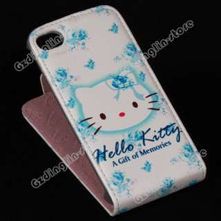 New Hello Kitty Flip Leather Hard Case Pouch Cover Skin For iPhone 4