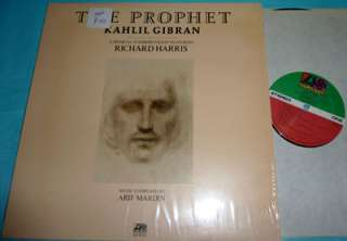 Kahlil Gibran   The Prophet 1974 LP NM Richard Harris