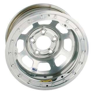 New 15 x 8 Bassett Silver D Hole IMCA Wheel 5 on 5, Beadlock, 2