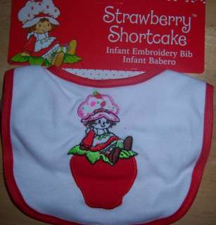 STRAWBERRY SHORTCAKE BABY BIB, BLUEBERRY MUFFIN, BABY SHOWER, DIAPER