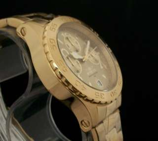 Invicta Mens 18K GOLD Ionic Plated Chronograph Stainless Steel Watch