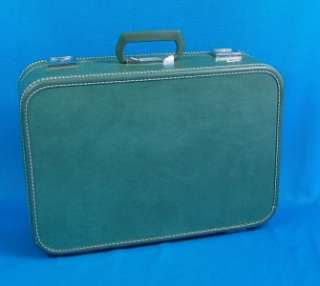 Beautiful Vintage RETRO Green SKYWAY SUITCASE almost Mint