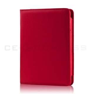 Red PU Leather Folio Cover Case Pouch for  Kindle Touch 4 4th 3G