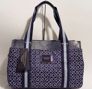 NWT Tommy Hilfiger Logo Blue Tote Handbag Bag Purse