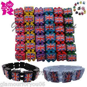 Adults Jesus British Union Jack Flag UK London 2012 Wooden Bracelets