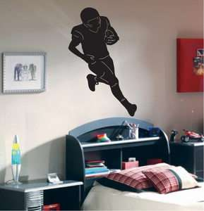 Football Silhouette Boys Room Wall Decal Decor 36
