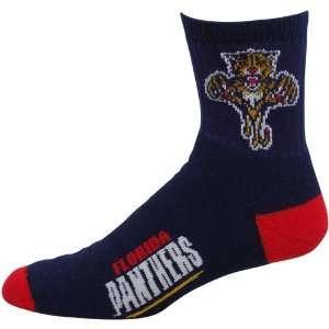 Florida Panthers Navy Blue Team Logo Crew Socks