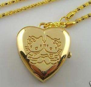 Heart Style Necklace Children Watch Gold Pendant best gifts