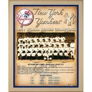 1941 New York Yankees World Series Championship Team Photo