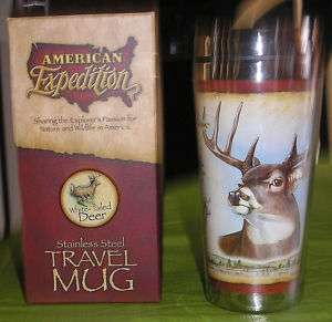 AMERICAN EXPEDITION WHITE TAILED DEER TRAVEL MUG/CUP