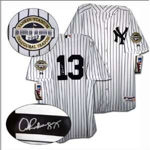 Alex Rodriguez Signed 2009 New York Yankees Majestic Authentic Home
