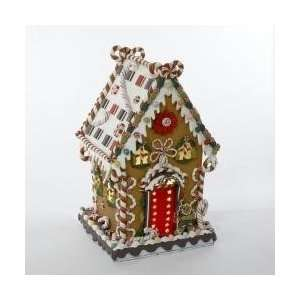 13.25 Gingerbread Kisses Lighted Cookie and Candy House