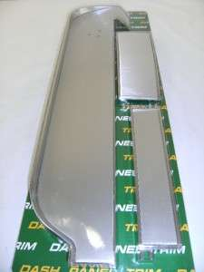 1967 Ford Mustang Dash Panel Trim Deluxe Aluminum Set