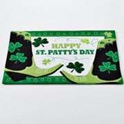Placemats 3 Styles UPick Shamrock 4 Leaf Clover Green/White NEW