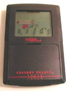 Tiger Electronics Caesar Palace Poker Vintage Electronic Handheld Hand