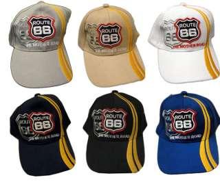 Route 66 Adjustable Size Ball Cap Baseball Cap Hat