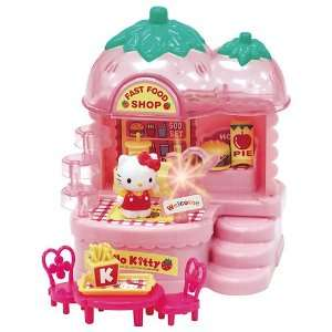 Sanrio Strawberry Hello Kitty Fast Food Shop    Great