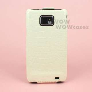 PU Soft Leather Cover Case Protect for Galaxy S2 i9100 II