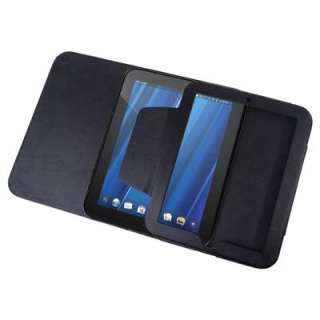 Leather Folio Flip Stand Case for HP TouchPad 16GB 32GB